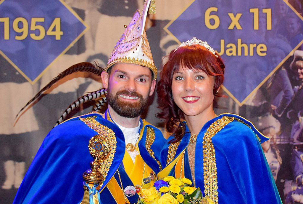 Prinzenpaar der Gold-Blauen-Funken 2020